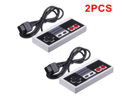 2-Pack Classic NES Controllers for Nintendo 8 Bit Entertainment System - $12.00