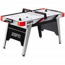 Air Powered Hockey Table With Overhead LED Scorer Family Game Night 60  ... - $199.00