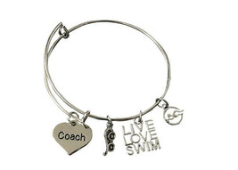 Swim Jewelry - Swimming Coach Bracelet - Perfect Gift For Swim Coaches - $16.50