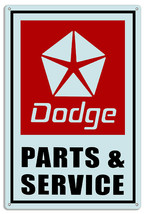 Dodge Parts Reproduction Gas Station Metal Sign 12x18 - $25.74