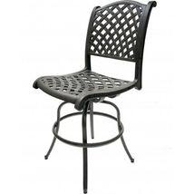 Patio Bar Stools Set of 2 Swivel Outdoor Furniture Cast Aluminum Sunbrella Seats image 5