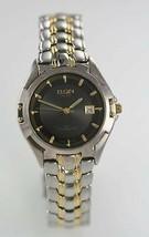 Elgin swiss man watch gold silver stainless steel water resistant date - $34.94