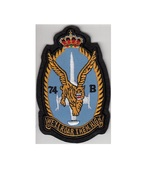 royal belgian air force rbaf 31st squadron f 104 course badge black felt 5 x 3.25 in  thumbtall