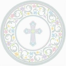 """Blessed Day 18 Ct 10.5"""" Dinner Plates Baptism Confirmation Communion Christening - $10.48"""