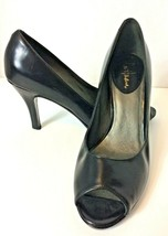 Cole Haan Black Leather Open Toe Pumps - US Size 6.5 B - $16.99