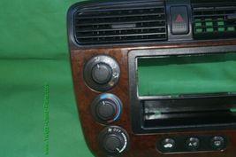 01-05 Acura EL Honda Civic Radio Bezel AC Control Dash Vents WoodGrain Trim image 3