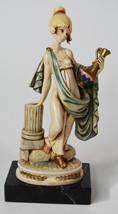"7"" Vintage Simonetti Italy Statue Goddess Girl w/ Wine Decanter On A Column - $28.49"