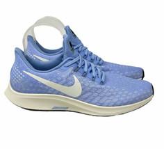 Nike Womens 9.5 Air Zoom Pegasus 35 Running 942855-405 Aluminum Sail Blue - $106.70