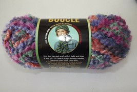 "Lion Brand Boucle' Yarn #210 ""Wild Berries"" Mohair Blend 2.5 oz Dye Lot ... - $4.77"