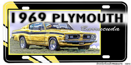 1969 Plymouth Barracuda Aluminum License plate - $13.81