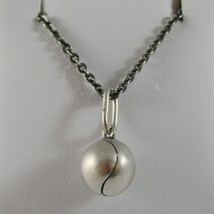 Silver Necklace 925 Burnished Pendant to Ball from Tennis Made in Italy image 1