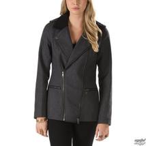 NEW Vans WOMEN'S XS PIKE Jacket BLACK GREY PARKA COAT JACK NWT $128 MOTO... - $56.09