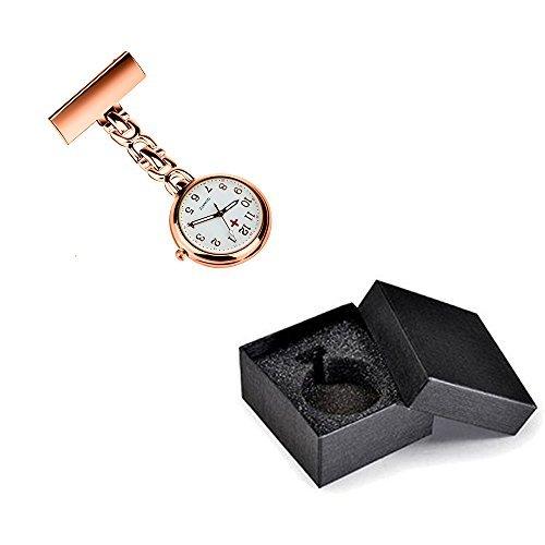 WIOR Nurses Lapel Pin Watch Hanging Medical Doctor Pocket Watch Quartz Movement