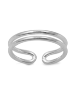 14k White Gold Plated 925 Silver For Women's Girl's Stylish Adjustable T... - $9.99