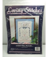 Loving Stitches Counted Cross Stitch Kit 267 Guest Will Please Karen's K... - $9.99