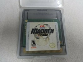 Madden NFL Football 2002 Nintendo Gameboy Color Game Cartridge Only Free... - $11.87