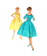 1950s Vintage Simplicity Sewing Pattern 2763 Junior Fit Flared Midi Dres... - $26.95