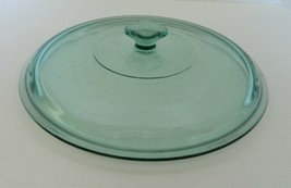 Anchor Hocking Sea Green Glass Casserole Dish 2 Quart Lid Only Made in U... - $14.73