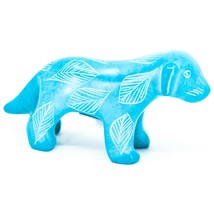 Vaneal Group Hand Crafted Carved Soapstone Light Blue Standing Puppy Dog Figure