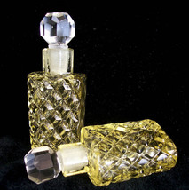 Rare Vintage Czech Bookend Perfume Bottles~Signed~Very Collectible~Free ... - $269.99