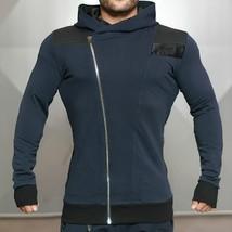 2018 Gymshark New Men Bodybuilding Hoody Fleeces Male Breathable Splicing Zipper - $33.96