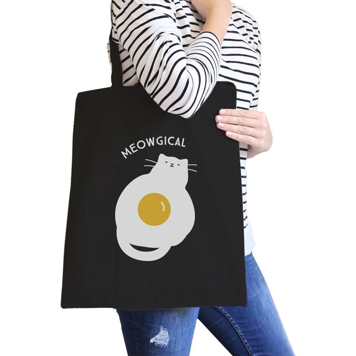 Primary image for Meowgical Cat And Fried Egg Black Canvas Bags
