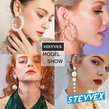 Elegant Plain Gold Metal Pearl Hoop Earrings In Fashion Big Circle Style  - $14.99