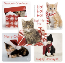 STICKERS - Christmas Adorable Kitten Cat Sticker Use for Crafts Cards En... - $2.49