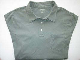 Sonoma Soft Cotton Long Sleeve Men's Polo T-Shirt Evergreen Trail XL MSRP $30  - $14.82