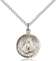 Sterling Silver St. Cabrini Pendant 5/8 x 1/2 inch with 18 inch Chain - $50.93
