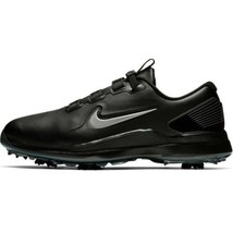 Nike Golf TW71 Tiger Woods Fastfit Black Golf Shoes Cleats Men's 12 Wide... - $125.00