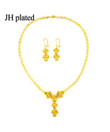 African Bride Jewelry Sets Necklace/Earrings Gold Color Ethiopian Weddin... - $21.21