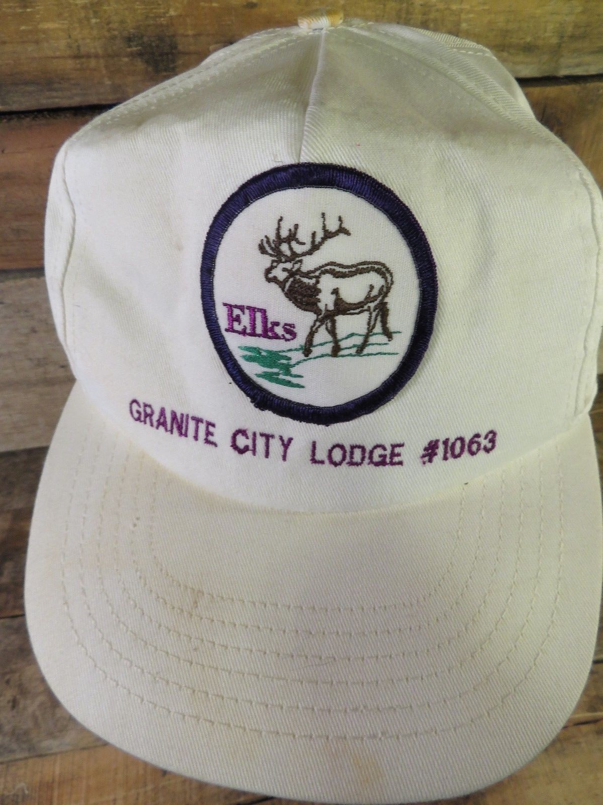 Elks Granito Urbano Lodge #1063 Vintage Regolabile Adulto Cappello