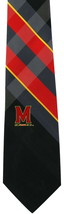 Maryland Terps Mens College Necktie University Logo Plaid Neck Tie Gift - €29,04 EUR