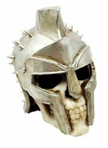 Spiked Spartan Helm Hero Gladiator Maximus Warrior Skull Figurine Sculpture - $26.99