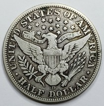 1915D Silver Barber Half Dollar Coin Lot A 151 image 2