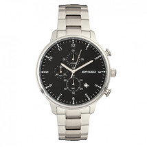Breed Holden Chronograph Bracelet Watch w/ Date - Silver/Black - $505.00