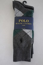 Polo Ralph Lauren Men's 3 Pairs Dress Socks 10-13 Shoe 6-12.5 New - $16.82