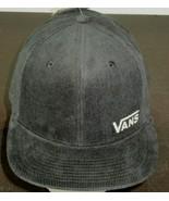 Vans Mens Corduroy Splitz Snap Back Hat Cap Black Silver Adjustable Free... - $23.75