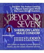 Beyond Seven Studded Sheerlon Bulk Condoms - Choose Quantity - $4.83+