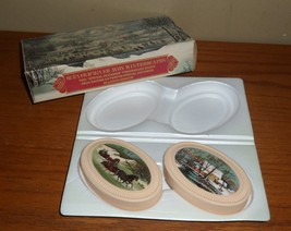 Vintage Avon WINTERSCAPES Scenes D' Hiver Special Occasion SOAPS in Orig... - $18.00