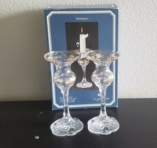 Rosenthal Crystal CLASSIC ROSE MONBIJOU Candle Holder in Box - $55.00