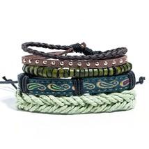Hot Sale Mens Chain Link Bracelet Fashion Alloy Leather Bracelets&Bangle... - $11.73