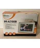 "Digital Picture Photo Frame 7"" JPEG Format Slide Show Mustek PF-A700B  - $14.99"