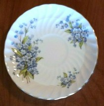 Antique AYNSLEY England Bone China Saucer Blue Garden Flowers Gold Trim ... - $17.82