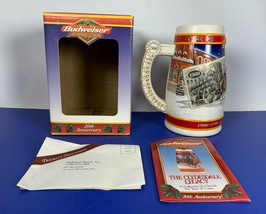 """New 1999 Budweiser Clydesdales Holiday Beer Stein """"Century Of Tradition"""" +Coa - $19.79"""