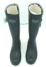 Women's Pendleton Woolen Mills Classic Tall Black Rubber Boots 9 NWOB image 2