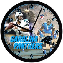 """Carolina Panthers Homemade 8"""" NFL Wall Clock w/ Battery Included - $23.97"""