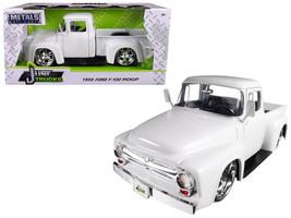 "1956 Ford F-100 Pickup Truck White ""Just Trucks"" 1/24 Diecast Model Car by Jada - $39.95"