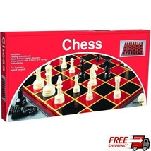 Chess Classic Game With Folding Board & Full Size Chess Pieces 8x8 Grid - $12.86